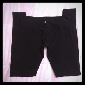 Lululemon Wunder Under, 8, Black, MidRise.